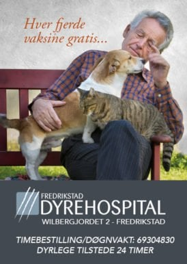 Glade og friske kjæledyr Fredrikstad Dyrehospital