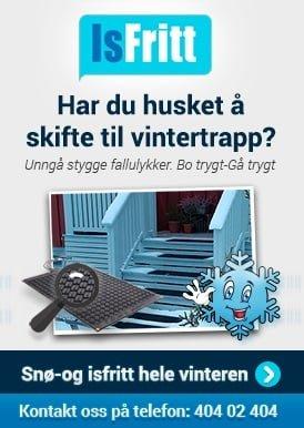 Isfritt - Har du husket å skifte til vintertrapp?