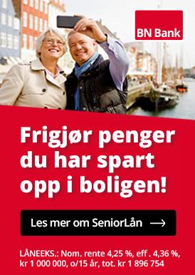 BN Bank Seniorlån - Frigjør penger du har spart opp i boligen!