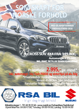 RSA BIL Annonse S-Cross SUV