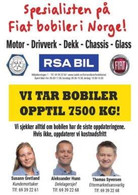 RSA BIL Fredrikstad - Spesialisten på Fiat bobiler i Norge!