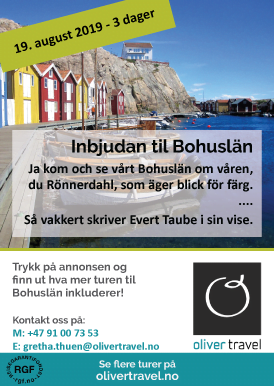 Oliver Travels tur til Bohuslän 19. august i Evert Taubes fotspor!