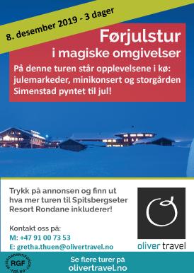 Bli med Oliver Travel på førjulstur i magiske omgivelser til Spitsbergseter Resort Rondane