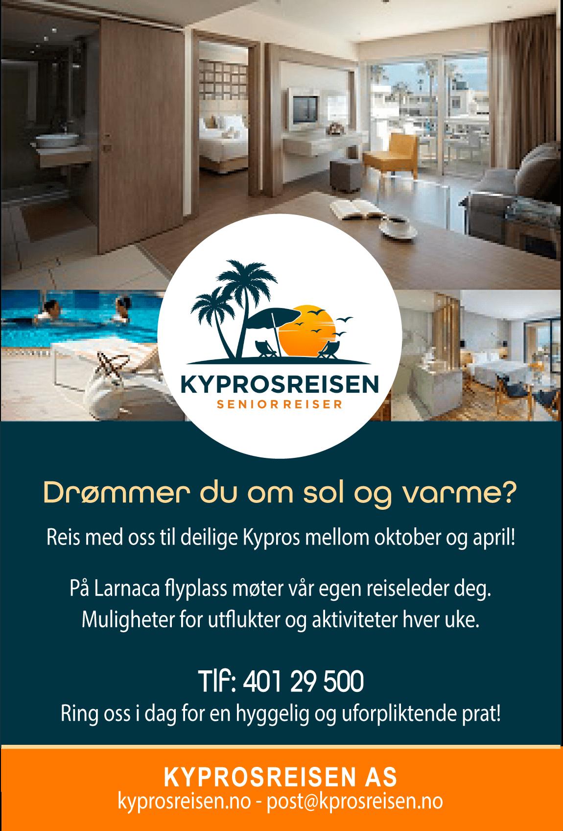 Reis med oss til deilige Kypros mellom oktober og april!