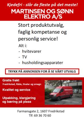 Martinsen og Sønn AS annonse